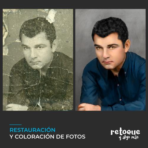 retoque, montaje, restauración de fotos antiguas y dañadas