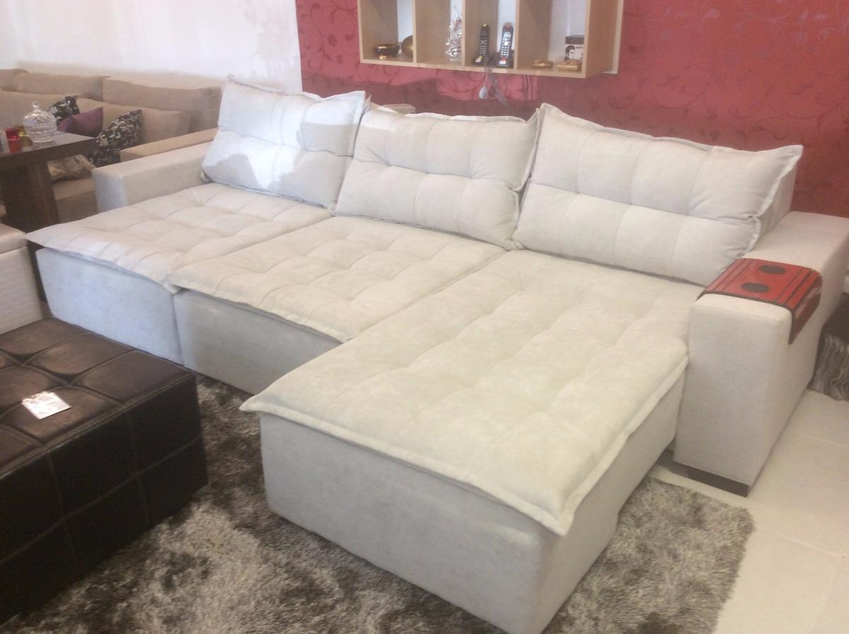 sofa 2 lug retratil e chaise retratil r em mercado livre. Black Bedroom Furniture Sets. Home Design Ideas