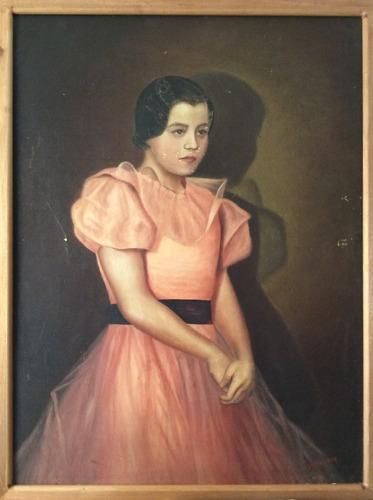 retrato al óleo del pintor josé villanueva