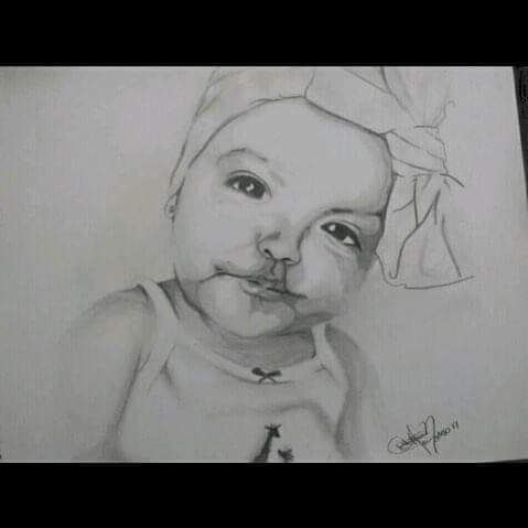 Retrato Dibujo Lápiz Carboncillo