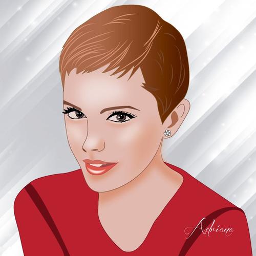 retrato digital personalizado, se hace en base a una foto