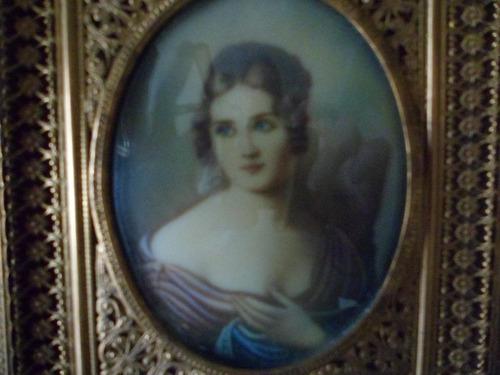 retrato pintado al oleo antiguo