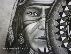 Dibujo A Lapiz Anciano Indio Arte En Mercado Libre México