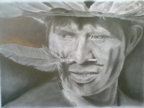 retratos a lapiz de grafito