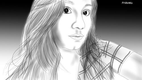 retratos a lápiz digitales