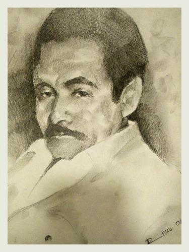 retratos a lápiz  (listo para colgar) arte profesional