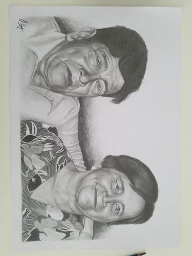 retratos a lápiz por encargo