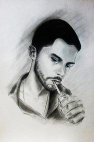 Retrato A Lápiz Del Indio Solari Dibujo Originales Dibujos En