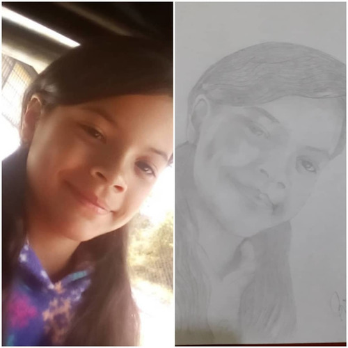 retratos a lápiz sobre cartulina tamaño carta