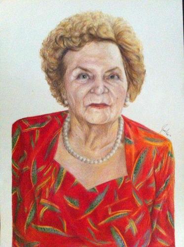 retratos a lapiz y dibujo a color