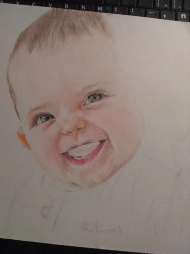 retratos a pedido, lápices de sombreado o a color