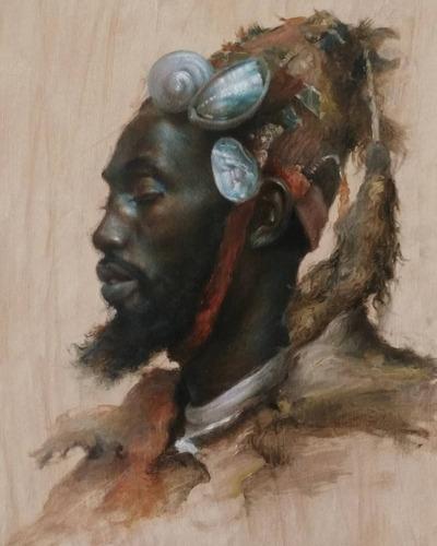 retratos al óleo y dibujos