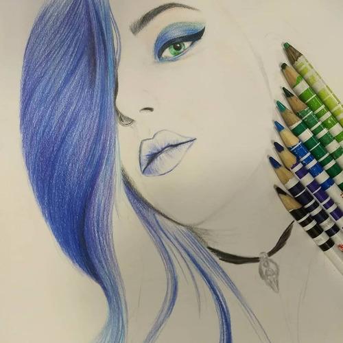 retratos dibujos realistas por encargo a partir de fotos