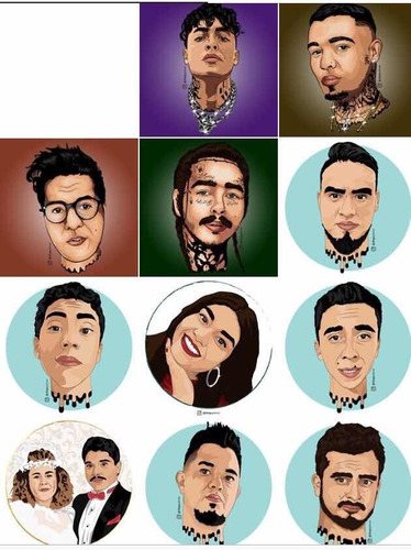 retratos digitales y trabajos de ilustración