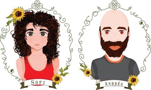 retratos personalizados. enmarcados, tazas