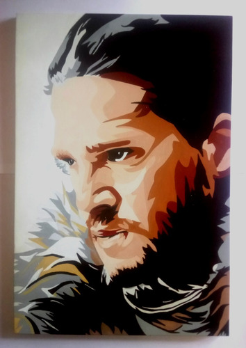 retratos pintados a mano game of thrones jon snow y mas