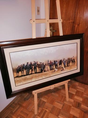 retratos por encargo 70x50 con marco figurativo