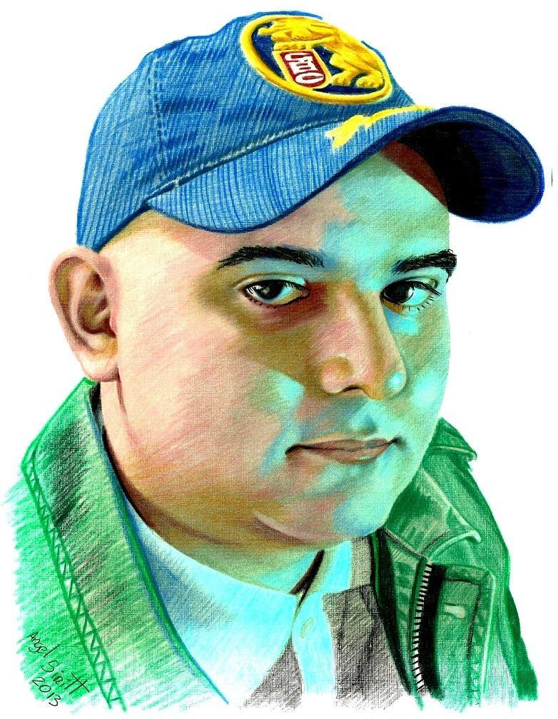 Retratos Profesionales A Lápiz De Colores Dibujo Arte