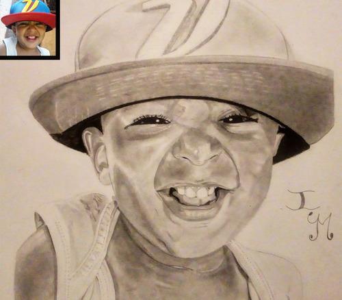 retratos realistas dibujos regalos