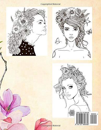Retratos Seductores Mujeres Hermosas Dibujos Para Colorear I