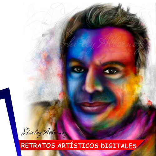 retratos y caricaturas en arte digital