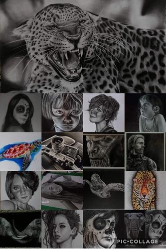 retratos y dibujos