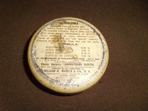 retro antigua lata de unguento de sloan industria argentina