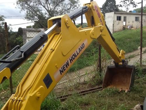retro escavadeira 2008 emplacada pá carregadeira new holland