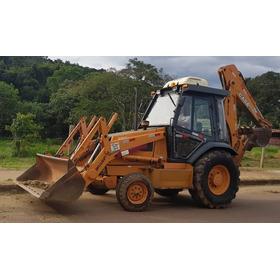 Retro Escavadeira Case 580l 4x2 - 2005 - Cabine Com Ar