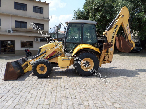 retro escavadeira new holland 95b ano 2013 cabine fechada ar