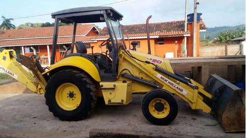 retro escavadeira new holland lb-90 ano 2008, otimo estado