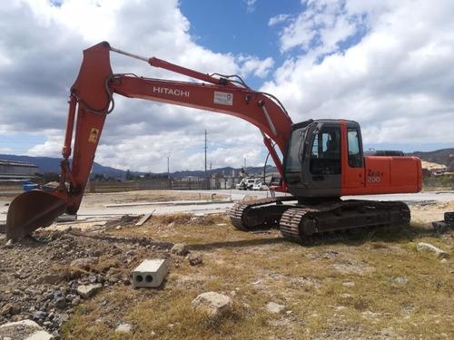 retro excavadora sobre orugas zx200