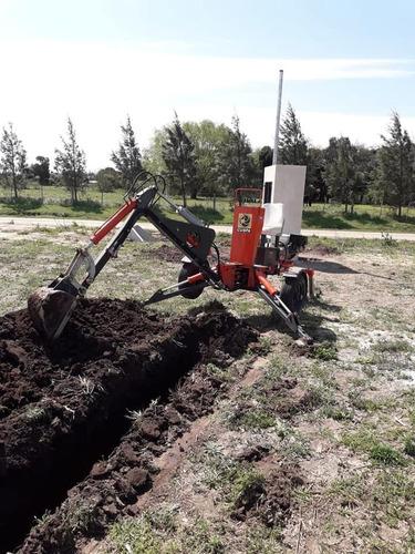 retro excavadora vial