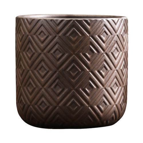 retro jarrones de cerámica soporte de flores de pie decora