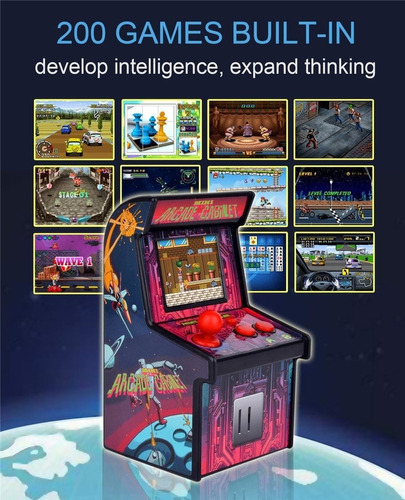 retro mini arcade game machines para niños con 200 classi