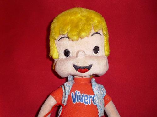 retro muñeco de peluche suavecito de la publicidad de vivere
