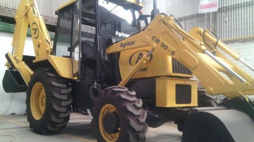 retro pala excavadora cargadora maquina equipo vial