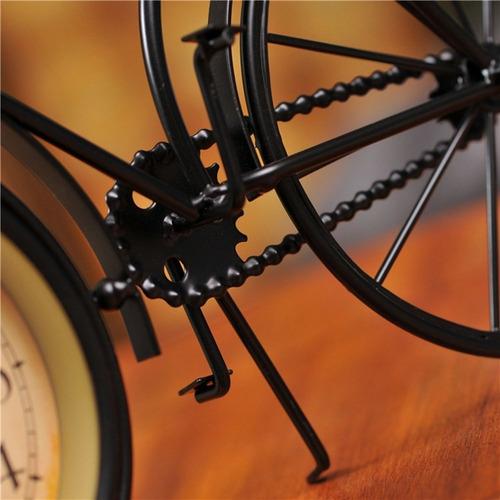 retro reloj de mesa vintage en forma de bicicleta msi