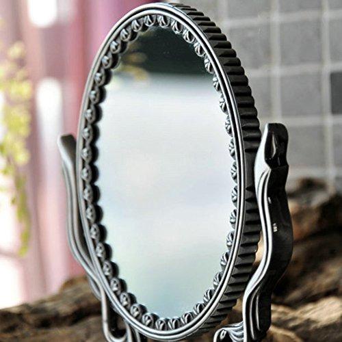 retro retro metal espejo retrovisor espejo cosmético de g