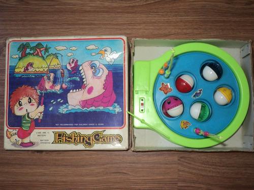 retro vintage juguete pesca