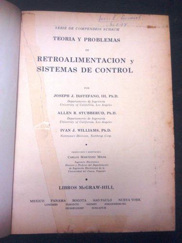 retroalimentacion y sistemas de control/ joseph j. distefano