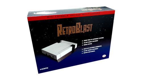 retroblast turbo 64gb consola retro + cooler + joystick