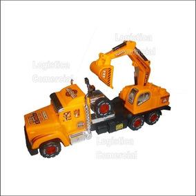 Camion Gandola Juguete Niño 22834 Retrocavadora Construccion Yfbg76y