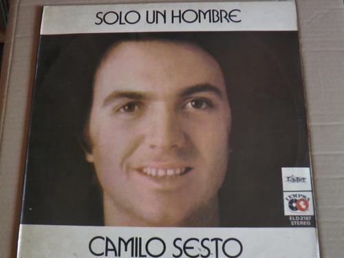 retrodisco/b/ camilo sesto - solo un hombre (lp)