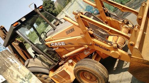 retroescavadeira case 580m 2008 4x2 2500h de uso
