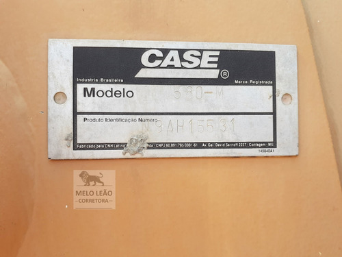 retroescavadeira case 580m 4x4 - ano 2014 - cabinada, ar *