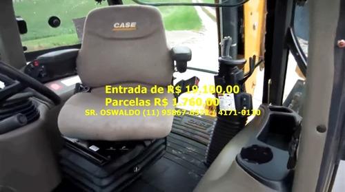 retroescavadeira case 580n, 2015, 4x4, cabinada, unico dono