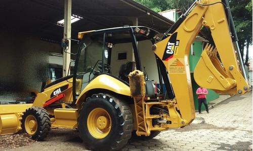 retroescavadeira caterpillar 416e 4x4 - ano 2012 - revisada
