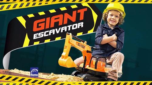 retroescavadeira gigante brinquedo giant roma