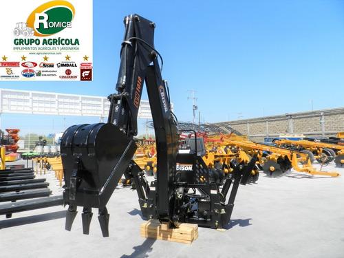 retroexcavadora agricola para tractor nueva marca bison